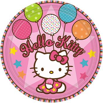 Hello Kitty Balloon Dinner Plates (5)