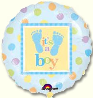 Stork Tea 18 Inch Its a Boy foil Balloon (1)