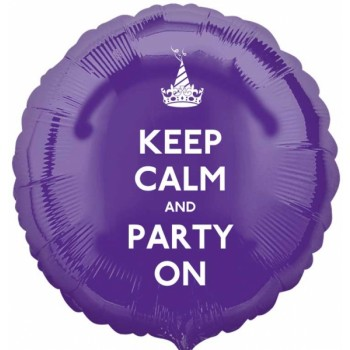 Keep Calm and Party On!  18 inch Foil Balloon (1)