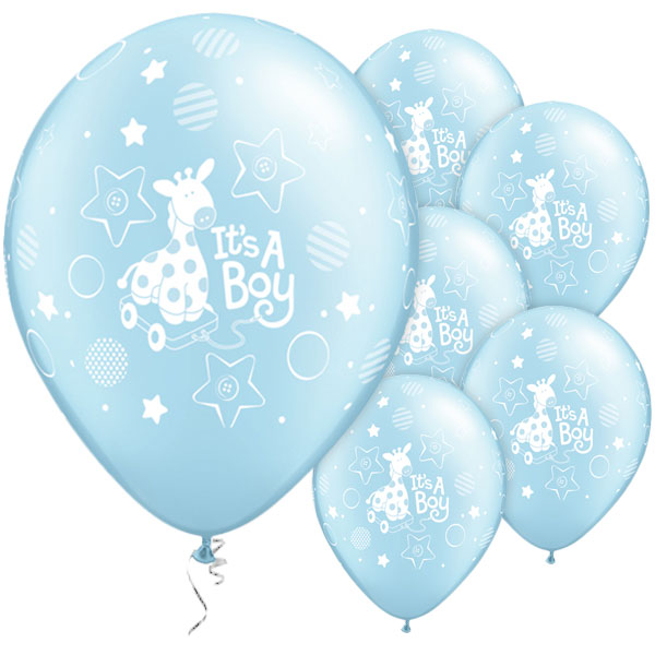 All Round 12 Inch It S A Boy Balloons 1