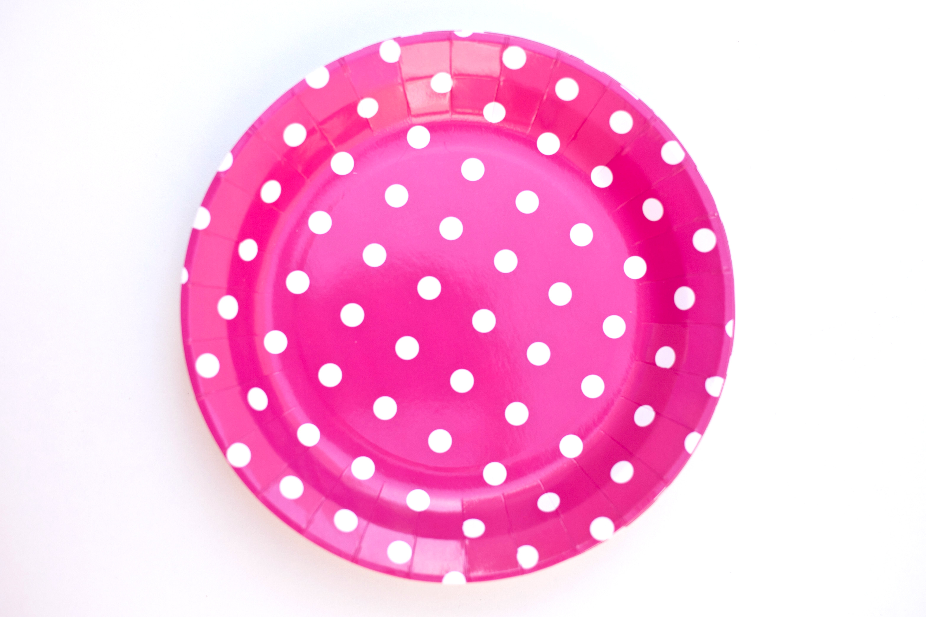 sc 1 st  B-Day Parties & Hot Pink Polka Dot Paper Plates (6)