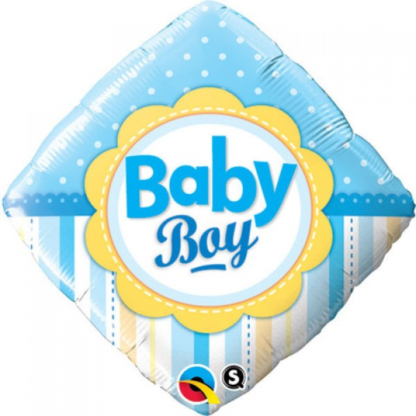 Baby Boy Dots & Stripes 18 inch Balloon (1 count)